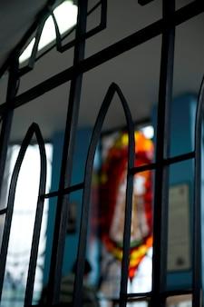 Окно церкви, дева мария кито, панецилло-хилл, кито, эквадор