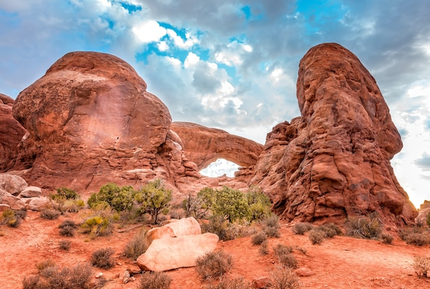 The window section,  south window arch in the arches national park, utah