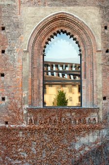 Window of sforzesco castle, milan