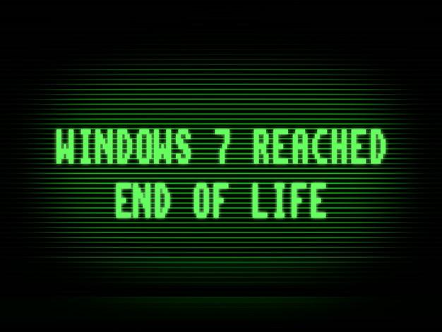 Фон иллюстрации конца жизни windows 7