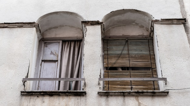 Windows of an abandoned house