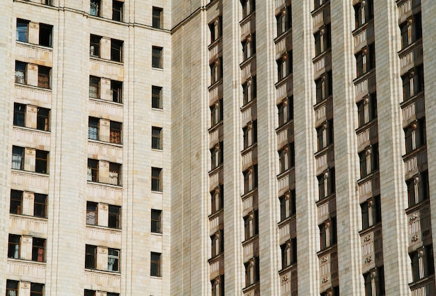 Windows of moscow state university architecture background hd