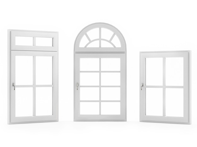 白い背景の窓