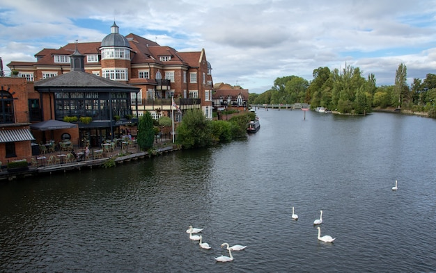 Windsor is a town on the river thames in southeast england, just west of london