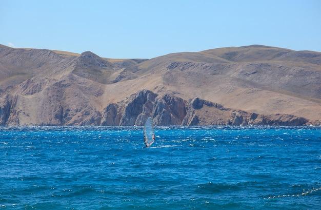 Виндсерфинг, море баска в хорватии