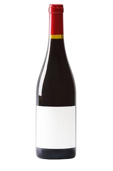白で隔離のワインボトル