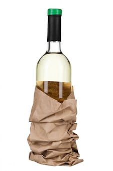Wine bottle isolated