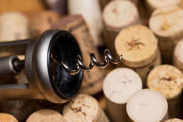 Wine corks on the table
