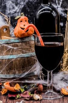 할로윈 파티 솔프 드링크용 와인