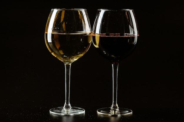 Wine glass on dark