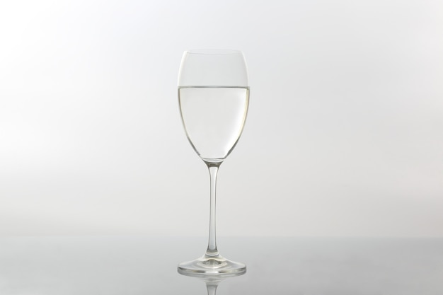 Wine glass of water