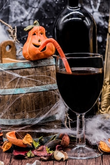 Wine for halloween party solf drink