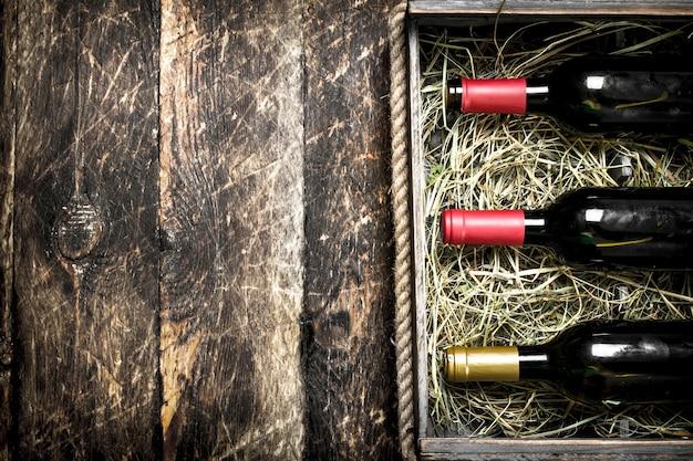 箱の中のワイン。