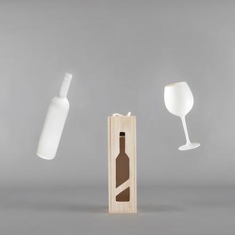 Mockup di presentazione del vino