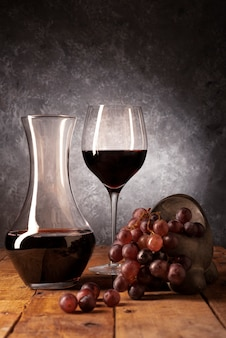 Wine tasting elements on a table