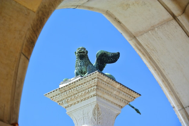 The winged lion of venice italy.