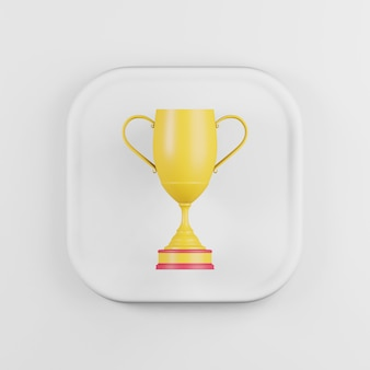 Winner cup yellow icon