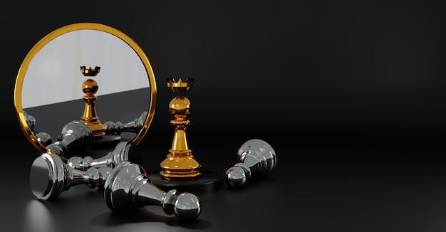 Winning chess concept background