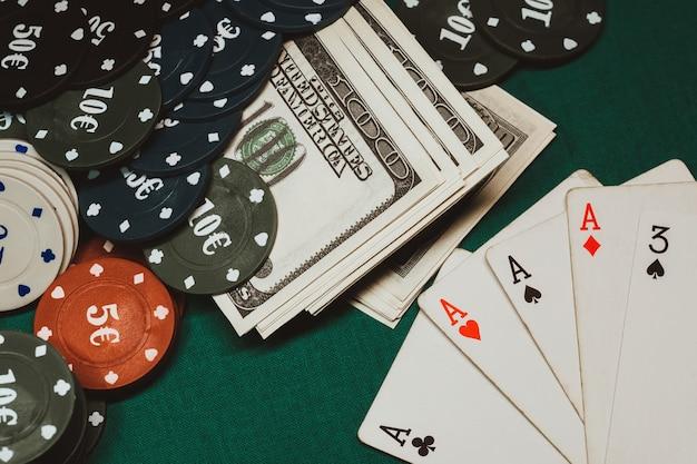 ポーカーでのカードの勝ちの組み合わせ