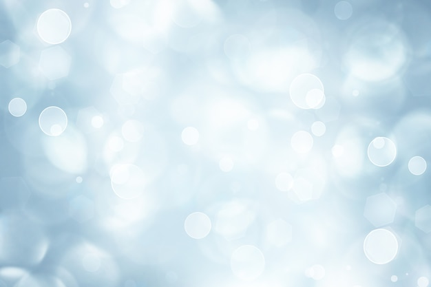 Winter abstract background with shining bokeh effect