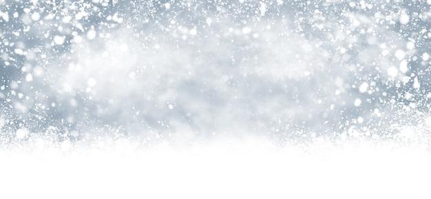 눈이 떨어지는 그림의 겨울과 크리스마스 배경 디자인