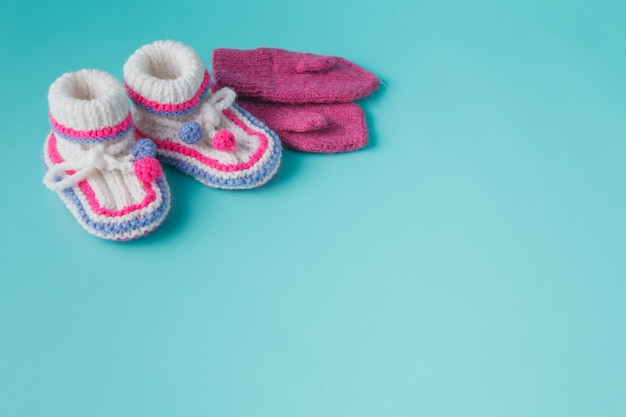 Winter baby newborn announcement