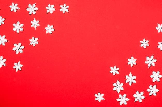 雪片と冬の背景