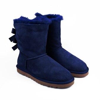 Winter blue shoes