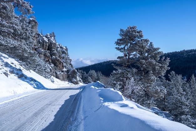 Winter in bolu kartaltepe mountains, turkey