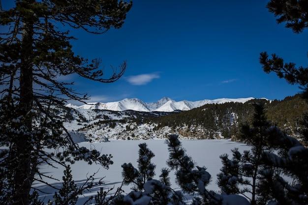 Winter in capcir, pyrenees, france