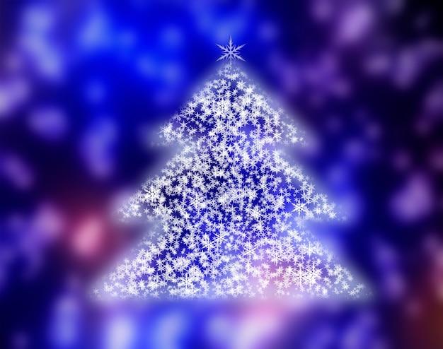 나무에 눈이 겨울 크리스마스 배경