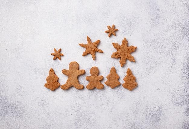 진저 쿠키와 함께 겨울 크리스마스 구성