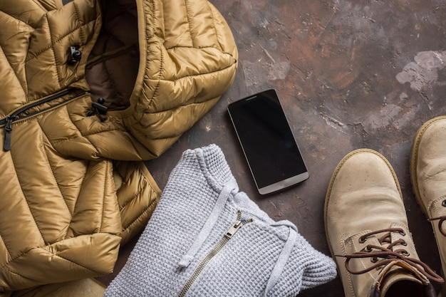 Winter clothing for man.