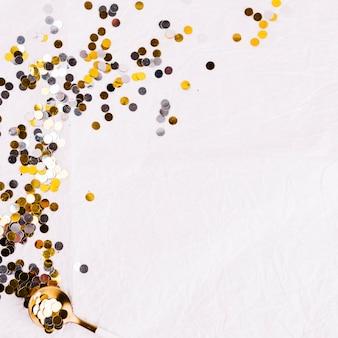 Winter composition festive confetti