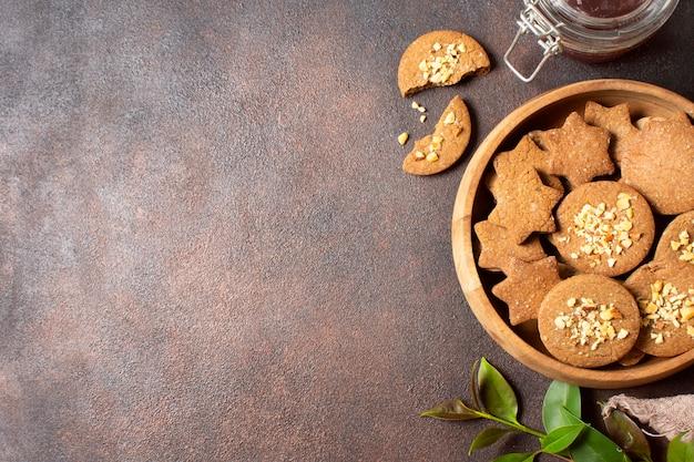 冬のクッキーデザートコピースペース