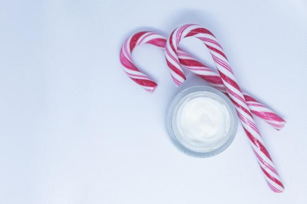 Winter cream for skin, skincare product.