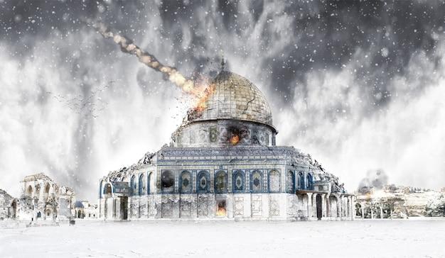 Winter - destruction apocalypse israel (jerusalem)