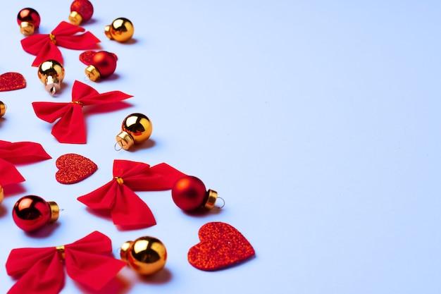 마음, 활과 싸구려, 복사 공간 겨울 축제 배경
