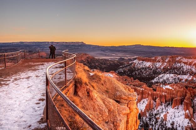브라이스 캐년 국립 공원, 유타, 미국의 겨울