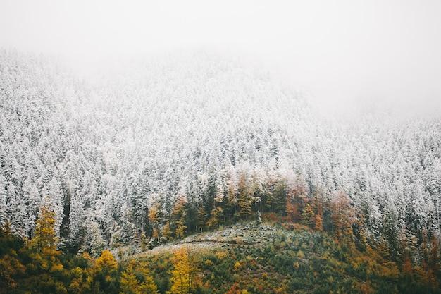 Зима в высоких горах