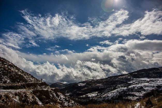 ラセルダーニャ、ピレネー、スペインの冬