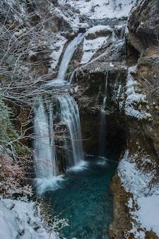 国立公園、ピレネー、スペインの冬