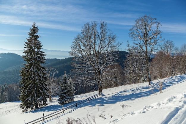 ブコベルの山岳スキーリゾートの冬の風景