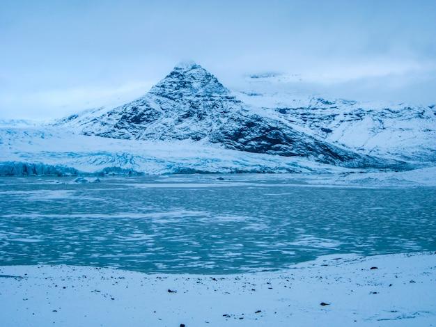 Winter landscape in jokulsarlon, iceland, northern europe.