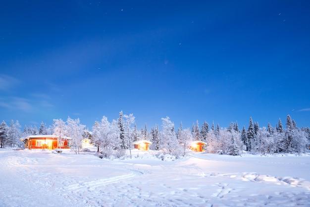 冬の風景の夜