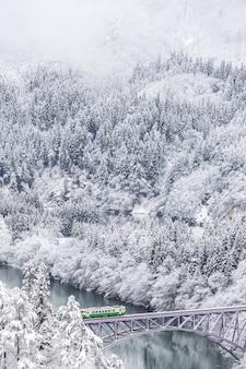 Winter landscape train