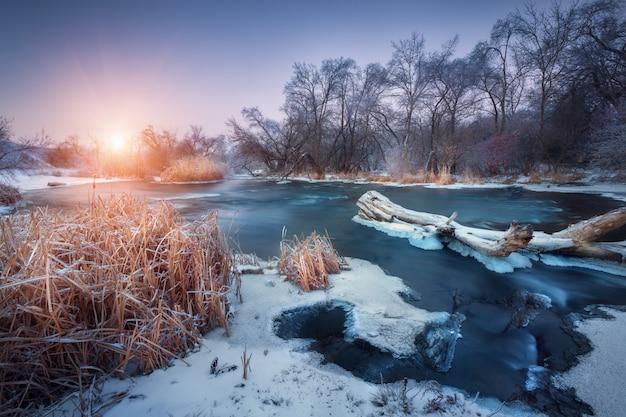 눈으로 겨울 풍경