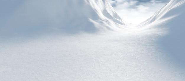 雪のある冬景色