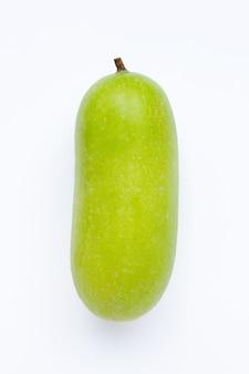 Winter melon on white background