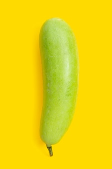 Winter melon on yellow background.